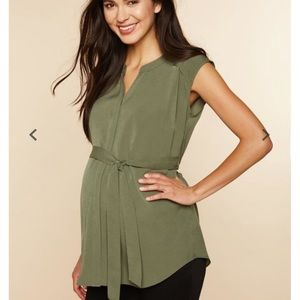 Cap Sleeve Tie Detail Maternity Tunic
